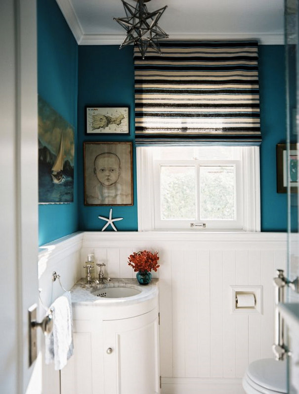 [Calypso Blue Bathroom Via Lonny Via House Of Turquoise]