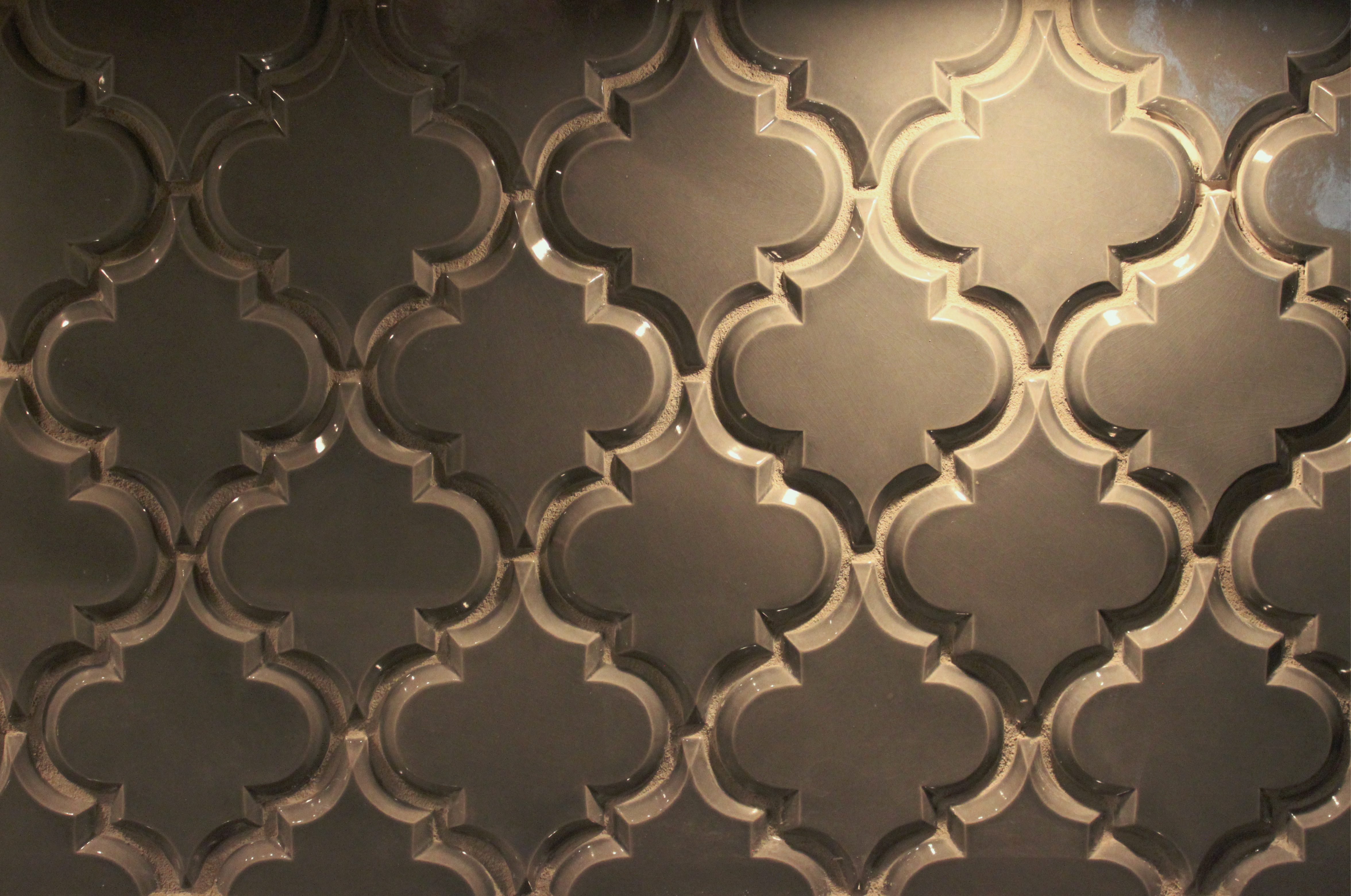 beveled arabesque tile